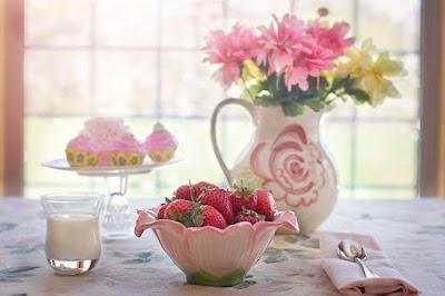 Las fresas un gusto para la vista ....y para el paladar