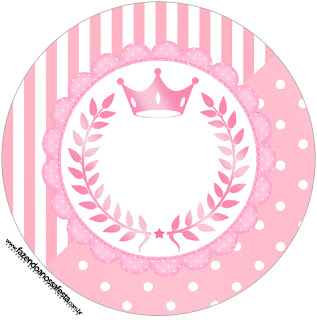 Pink Crown Toppers or Free Printable Candy Bar Labels.