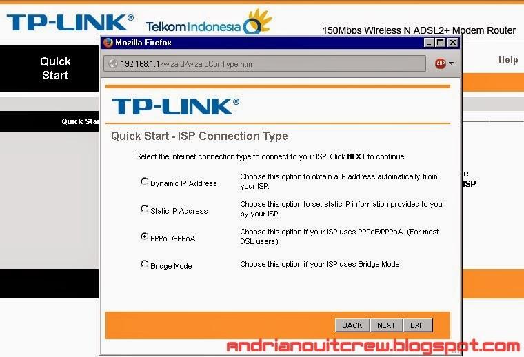 cara setting ulang modem speedy tplink adsl + wifi 4