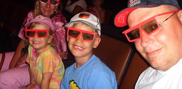3 D Kino mit unserer Familie im Bush Gardens in Tampa!
