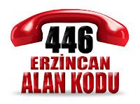 0446 Erzincan telefon alan kodu