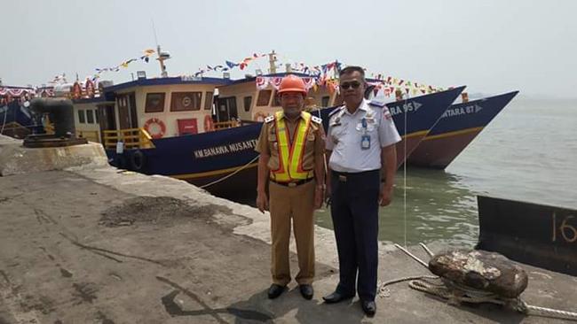 Perlancar Transportasi Sungai, Pemkab Mesuji Menerima Hibah Kapal Pelra Dari Kemenhub