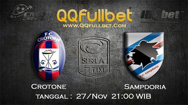 PREDIKSIBOLA - Prediksi Taruhan Bola Crotone VS Sampdoria 27 November 2016 (SERIE A Italia)