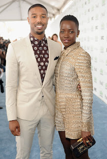 Between Black Panther's Michael B. Jordan and Lupita Nyong'o