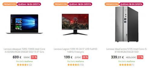 Top 15 ofertas Súper Precios Lenovo PcComponentes