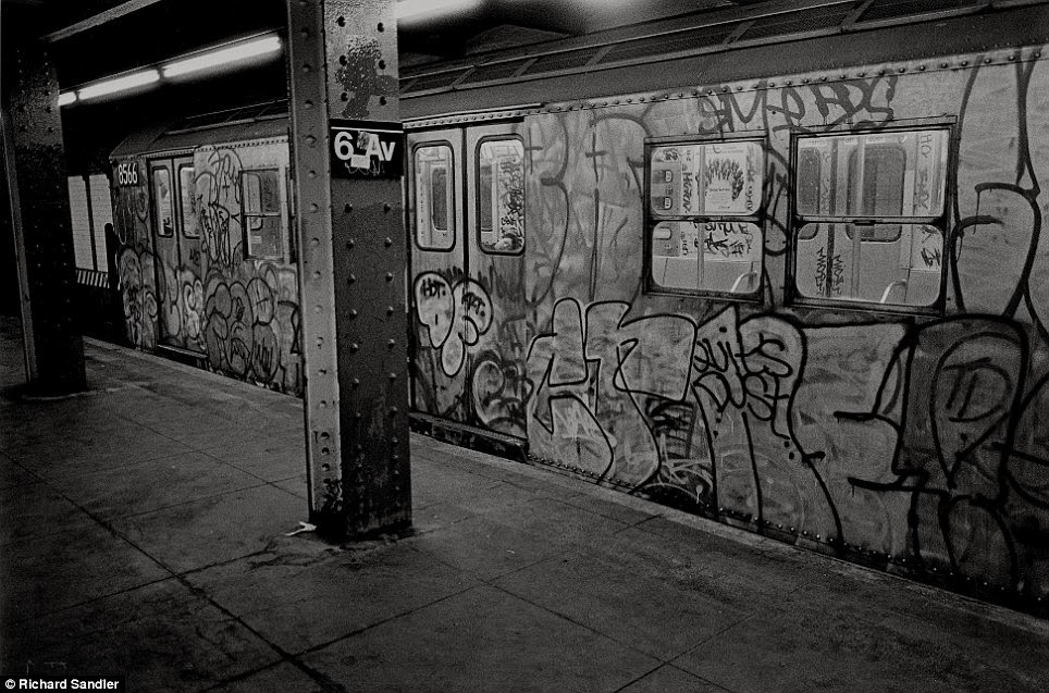 The late 1970s and 80s signaled the beginnings of street art as we know it with subways like this one in 1986 covered in tags by illicit painters