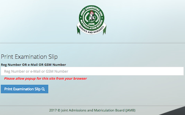 JAMB Mop-up Exams Date 2018