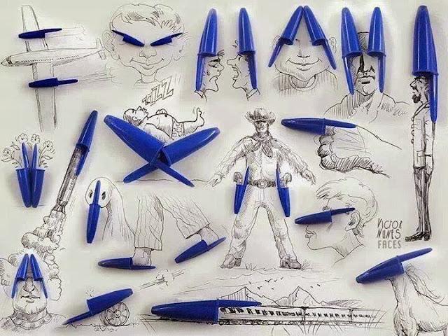 فن ( غطاء قلم الحبر)