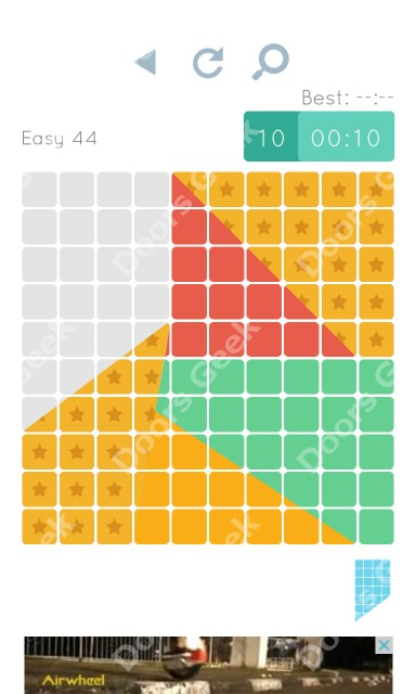 Cheats, Walkthrough for Blocks and Shapes Level 44
