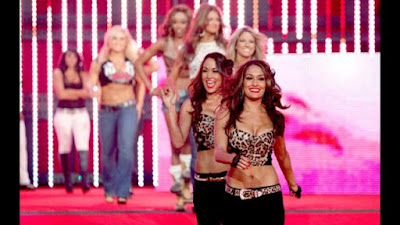 Bellas lead the Lumberjills to the ring at Night of Champions