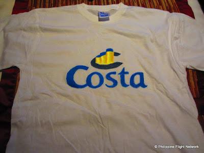 costa souvenir t-shirt