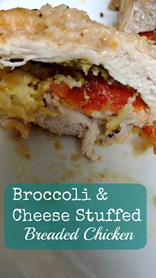 Turning Mommy Broccoli cheese Stuffed Chicken