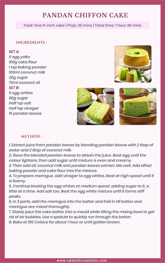 ANDAN CHIFFON CAKE RECIPE