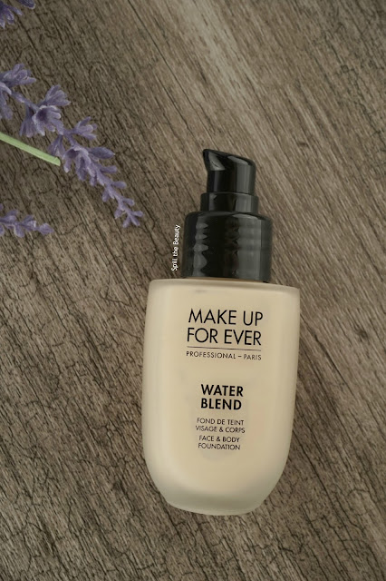MAKE UP FOR EVER marries the comfort and natural looking results of a sheer foundation with the performance that pro makeup artists demand in the new WATER BLEND Foundation. It delivers the flawless, dewy finish of enviable bare skin in a lightweight, sheer, buildable formula, then sets, transfer-proof and waterproof, for long-lasting, perfectly beautiful skin.  Comprised of 80% pro-vitamin B5 infused water, WATER BLEND maintains the skin's hydration and blends smoothly for light coverage with a natural glow. Coated micro-fine pigments even skin tone and deliver long-lasting, waterproof, transfer-proof finish in one stroke. The result? Skin looks smooth, healthy and flawless, with no touch-ups required.
