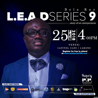 Bola Ray To Speak At The 9th Edition Of LEAD SERIES