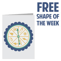 silhouette free shape spinner card