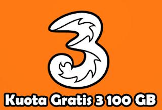 Cara Mendapatkan Kuota Gratis 3 Tri 100 GB+ Terbaru 2019, Mau?