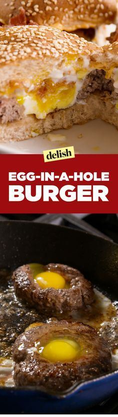 Egg in a Hole Burger