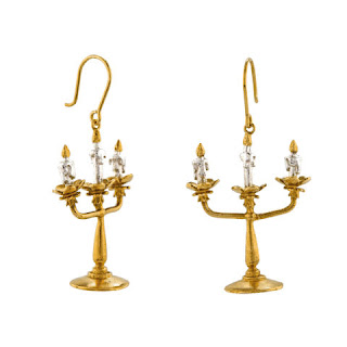 Lumière Candelabra Earrings Alex monroe x Disney Jewellery