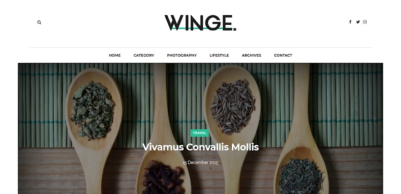 Winge Free Blogger Template