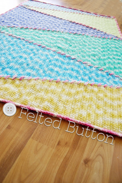 Sally Blanket crochet pattern by Susan Carlson of Felted Button