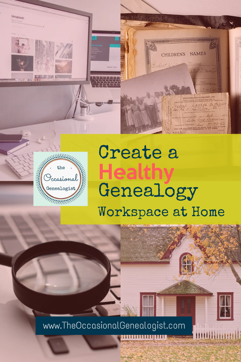 Healthy Genealogy Workspace | The Occasional Genealogist