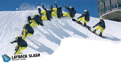How to Snowboard Trick : Layback slash