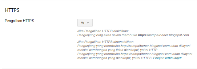 SSL dan HTTPS di blogspot