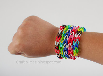 Rubber Band Bracelet Without Loom