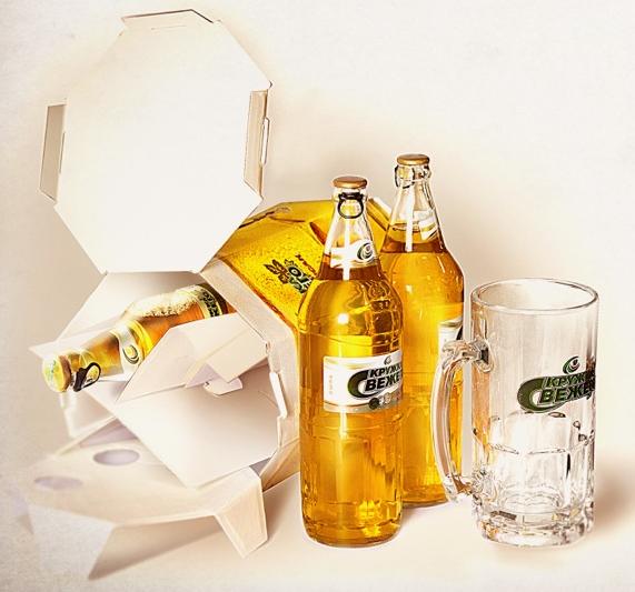 Tarro cervecero gigante de cartón