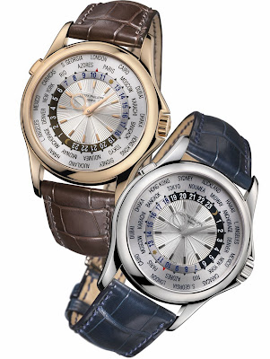 Patek Philippe - Ref 5130 World Time Watch with 39.5 mm 18K Rose or White Gold Case (2006)
