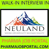 Neuland Laboratories Limited Walk-In Interviews for Quality Control, Stores, lant Engineering(Maintenance)