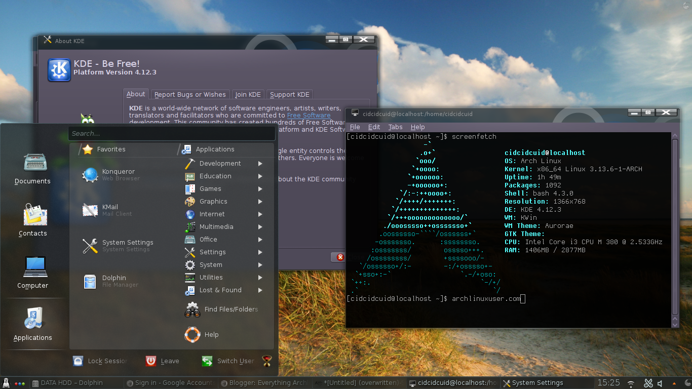How to Install KDE Desktop Environment on Archlinux