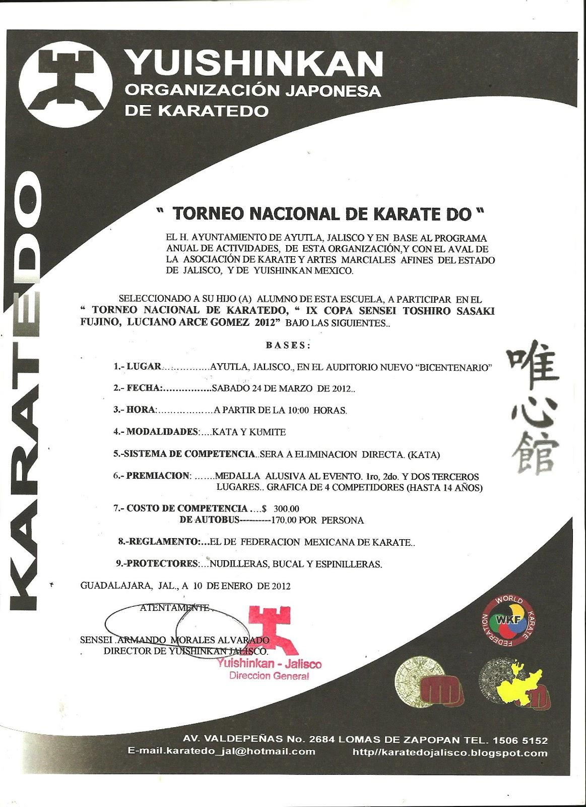 ZENKAI DOJO ARTES MARCIALES: INVITACION AL TORNEO NACIONAL ...  ZENKAI DOJO ART...