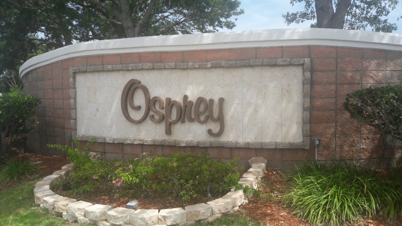 Entrance to the Osprey Neighborhood - Viera, FL