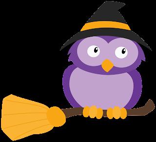 Tierno Clipart de Animalitos Disfrazados para Halloween.