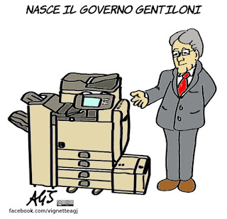 gentiloni, governo, ministri, novità, vignetta, satira