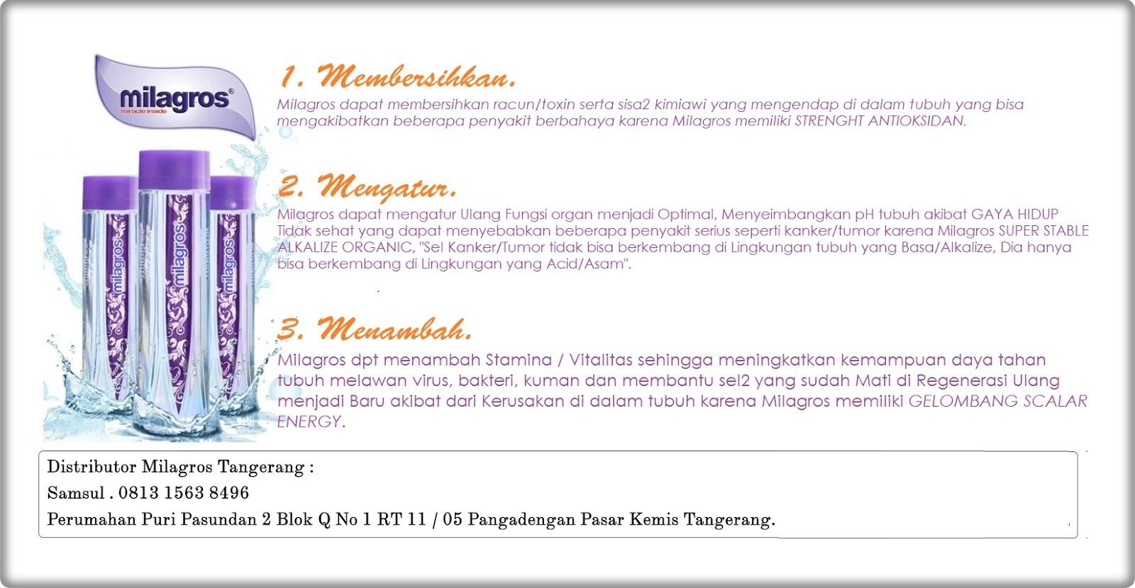 Stokis Air Milagros Tangerang 0813 1563 8496 Stokis Air