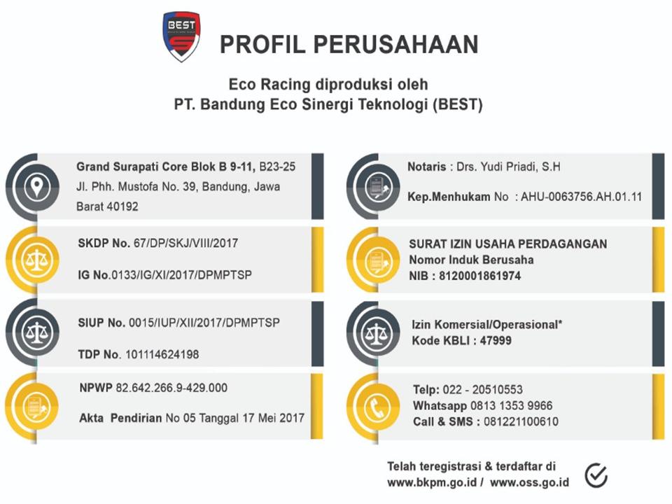 Bisnis Eco Racing Penipuan Profil Perusahaan Pt Bandung Eco