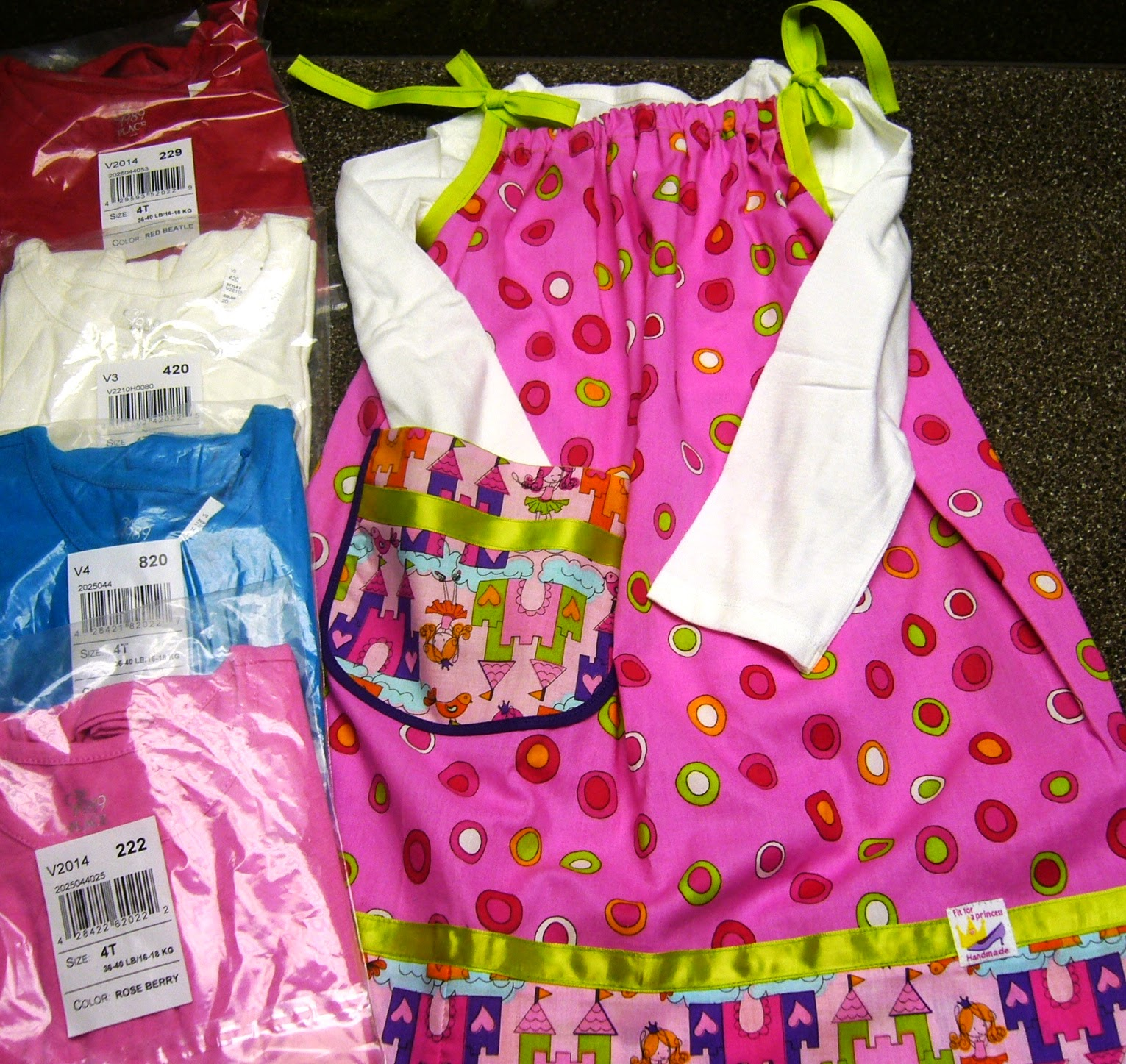 Princess pillowcase dress for Operation Christmas Child shoebox.