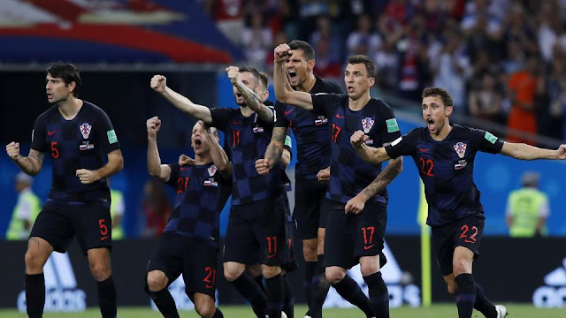 Croatia beat Russia to fight against England in Semi final