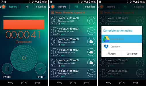 voice recorder with effects app free download