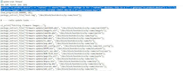 delete updater script code redmi k20 pro