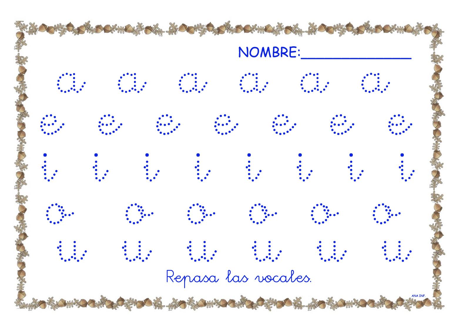 INFANTILES DE ANA V.: REPASANDO LAS VOCALES
