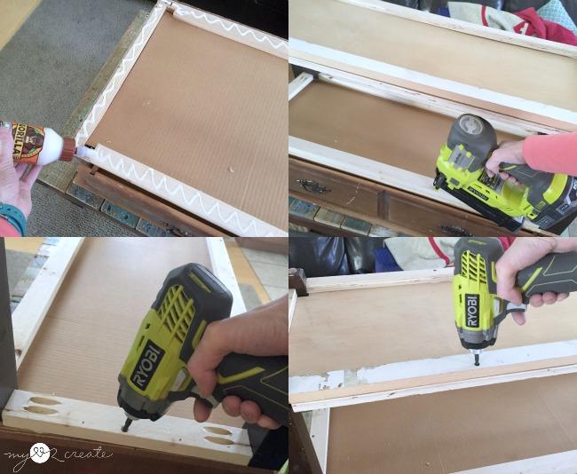 attaching plywood shelf