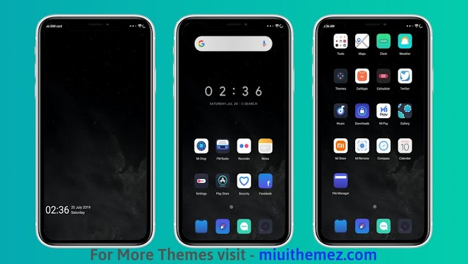 Dark iOS Theme for MIUI | MIUI 10 iOS Theme