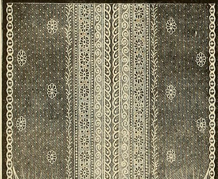 Vintage Ephemera Nottingham Lace Curtain 1912
