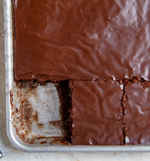 """Texas Chocolate """"Quarter"""" Sheet Cake"""
