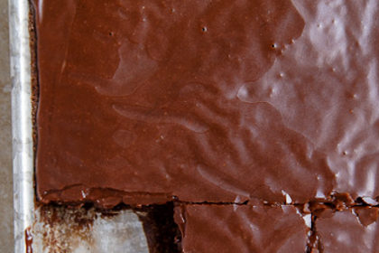 "Texas Chocolate ""Quarter"" Sheet Cake"