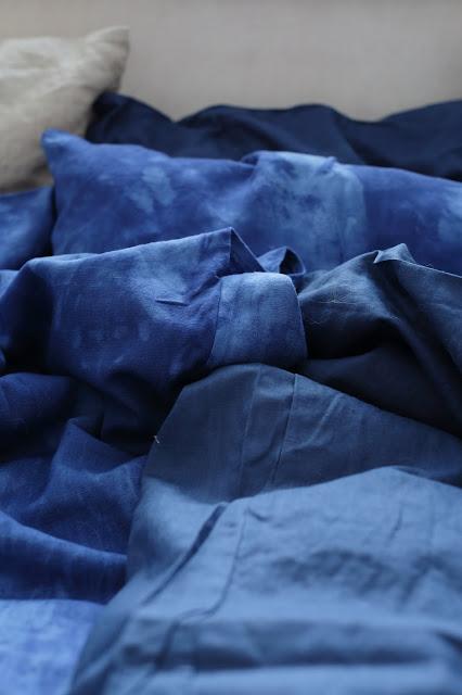 linen sheets, pellavalakana, diy, itsevärjätty